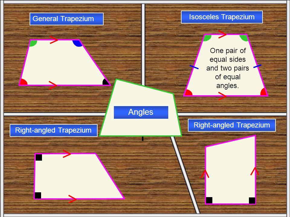 Trapezium 1 Angles Isosceles Trapezium General Trapezium