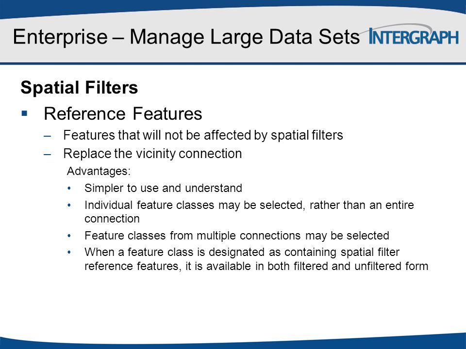 Enterprise – Manage Large Data Sets