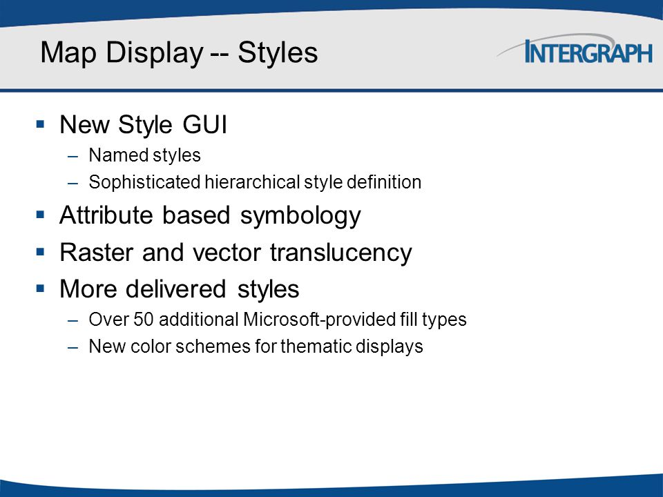 Map Display -- Styles New Style GUI Attribute based symbology