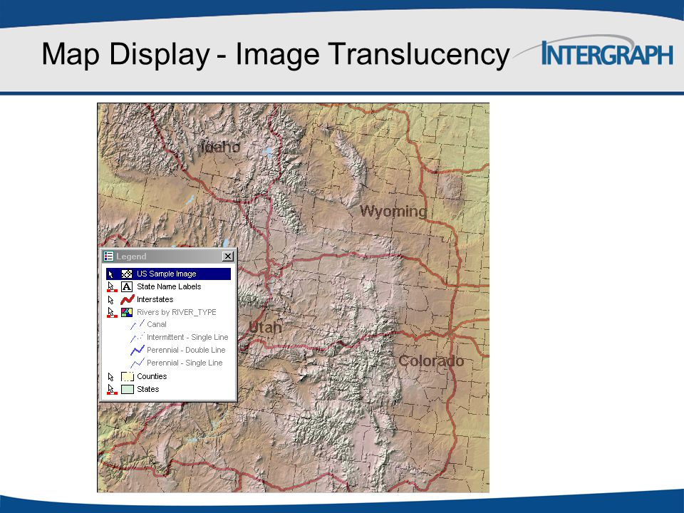 Map Display - Image Translucency