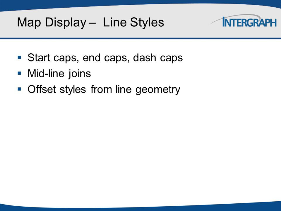 Map Display – Line Styles