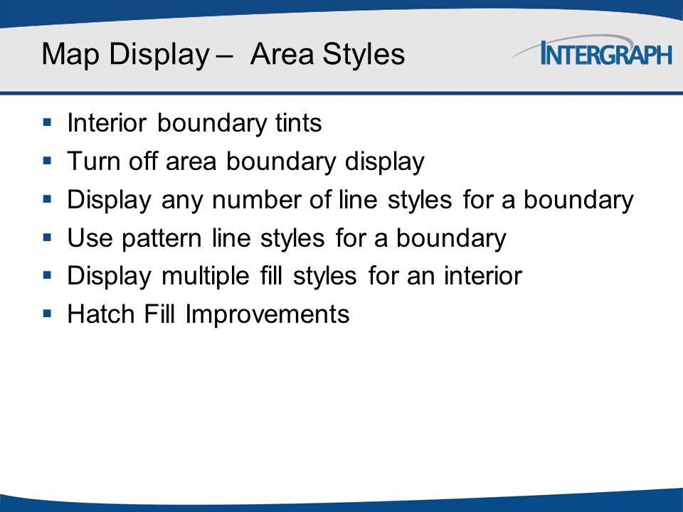 Map Display – Area Styles