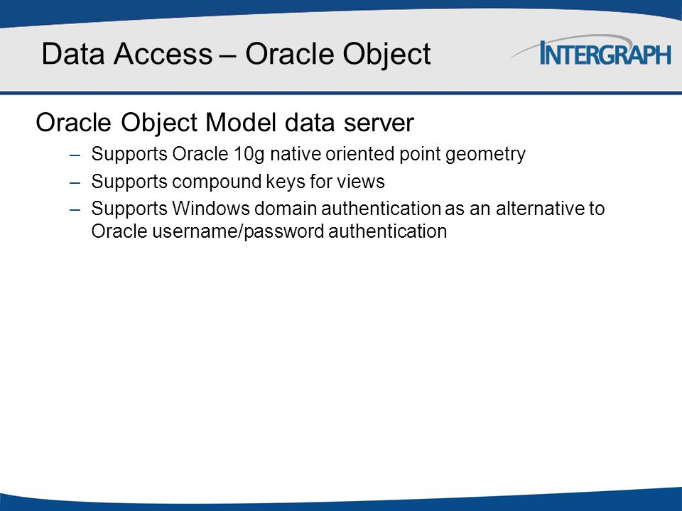 Data Access – Oracle Object