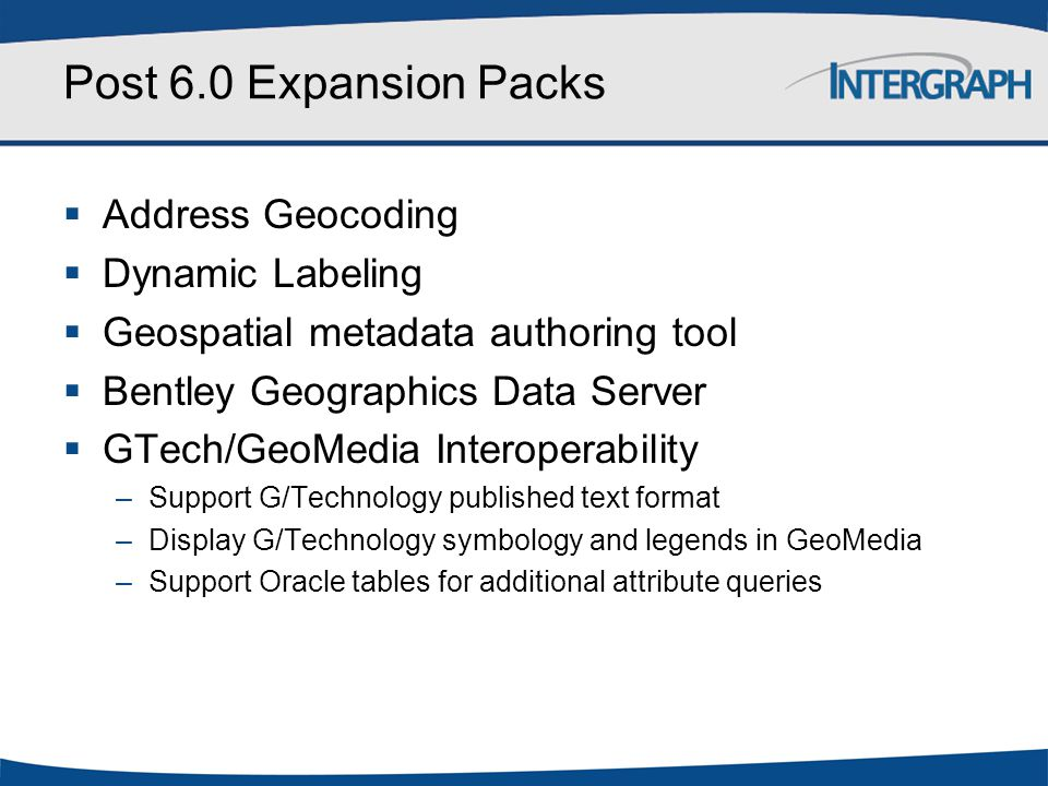 Post 6.0 Expansion Packs Address Geocoding Dynamic Labeling