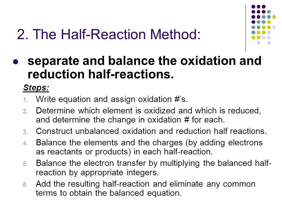 2. The Half-Reaction Method:
