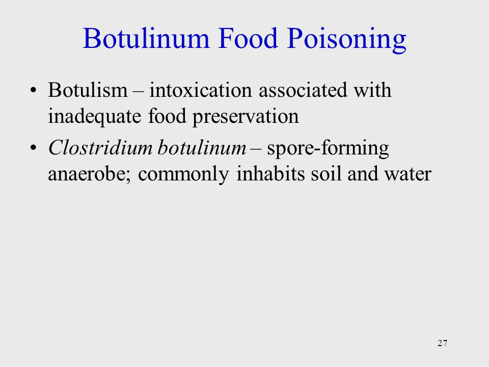 Botulinum Food Poisoning