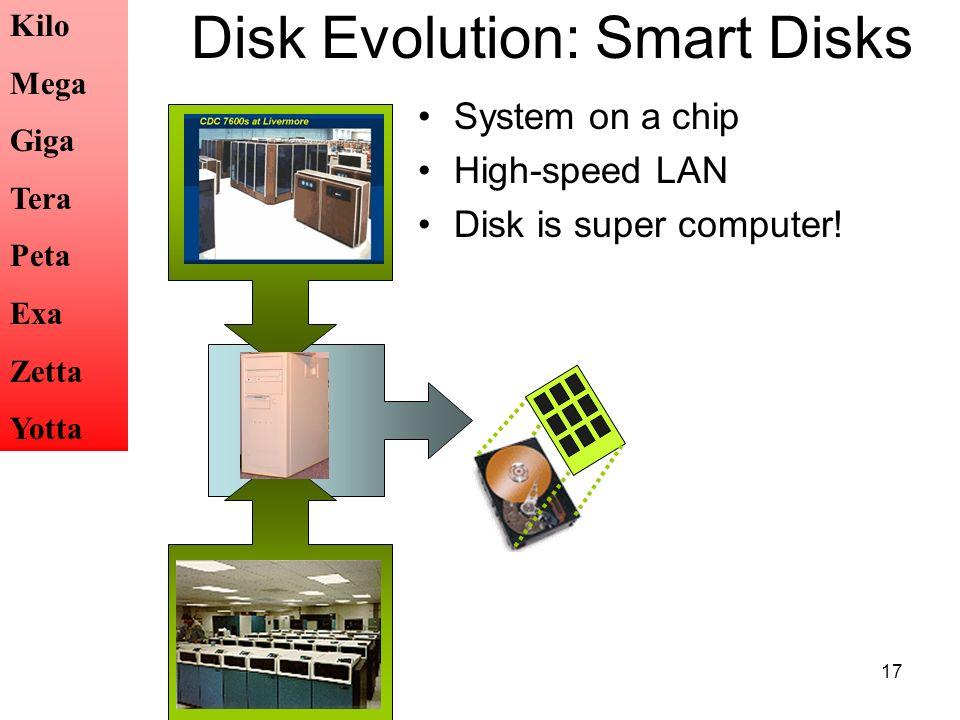 Disk Evolution: Smart Disks
