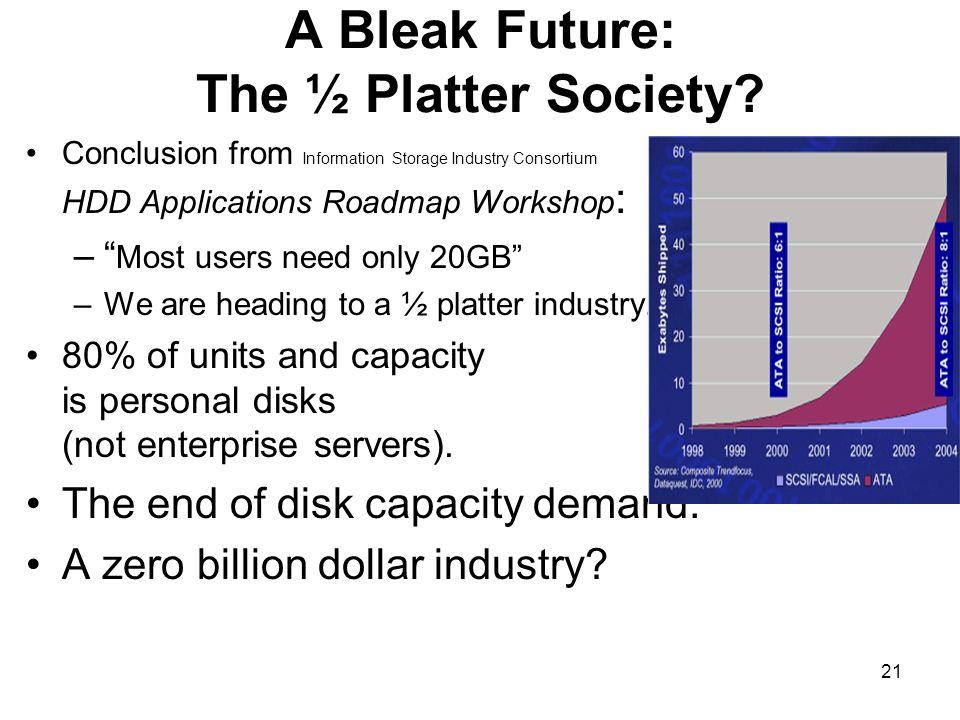 A Bleak Future: The ½ Platter Society