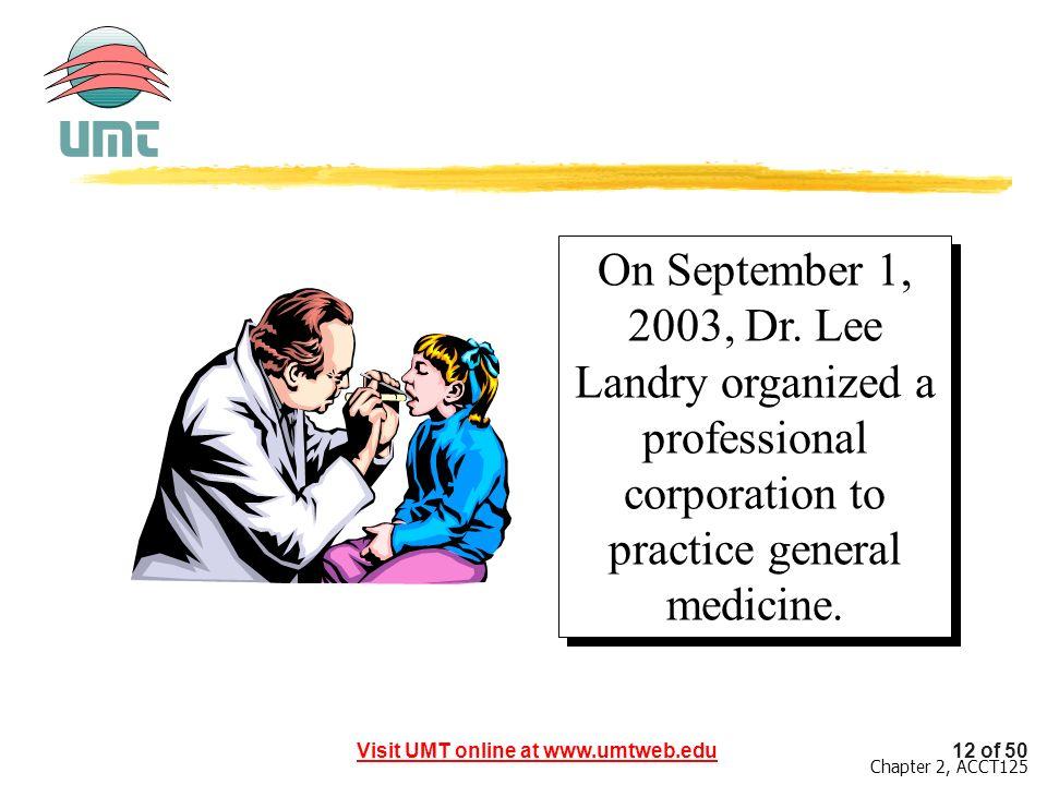 On September 1, 2003, Dr.