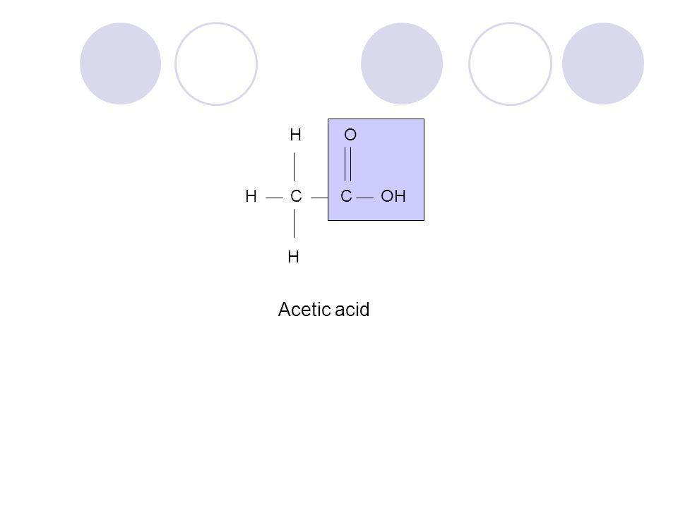 H O H C C OH H Acetic acid