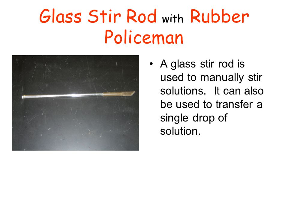 Glass Stir Rod with Rubber Policeman