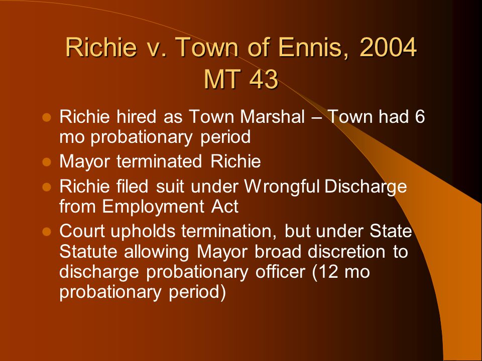 Richie v. Town of Ennis, 2004 MT 43