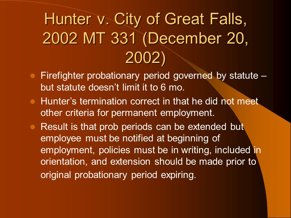 Hunter v. City of Great Falls, 2002 MT 331 (December 20, 2002)