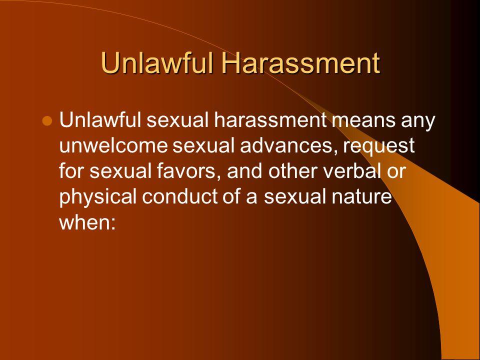 Unlawful Harassment