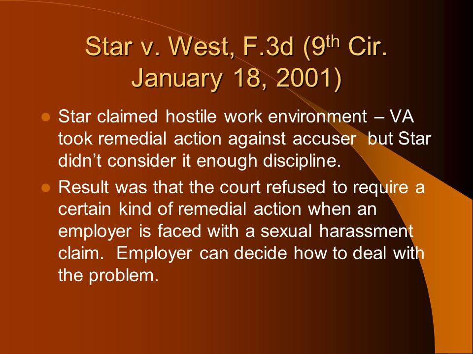 Star v. West, F.3d (9th Cir. January 18, 2001)