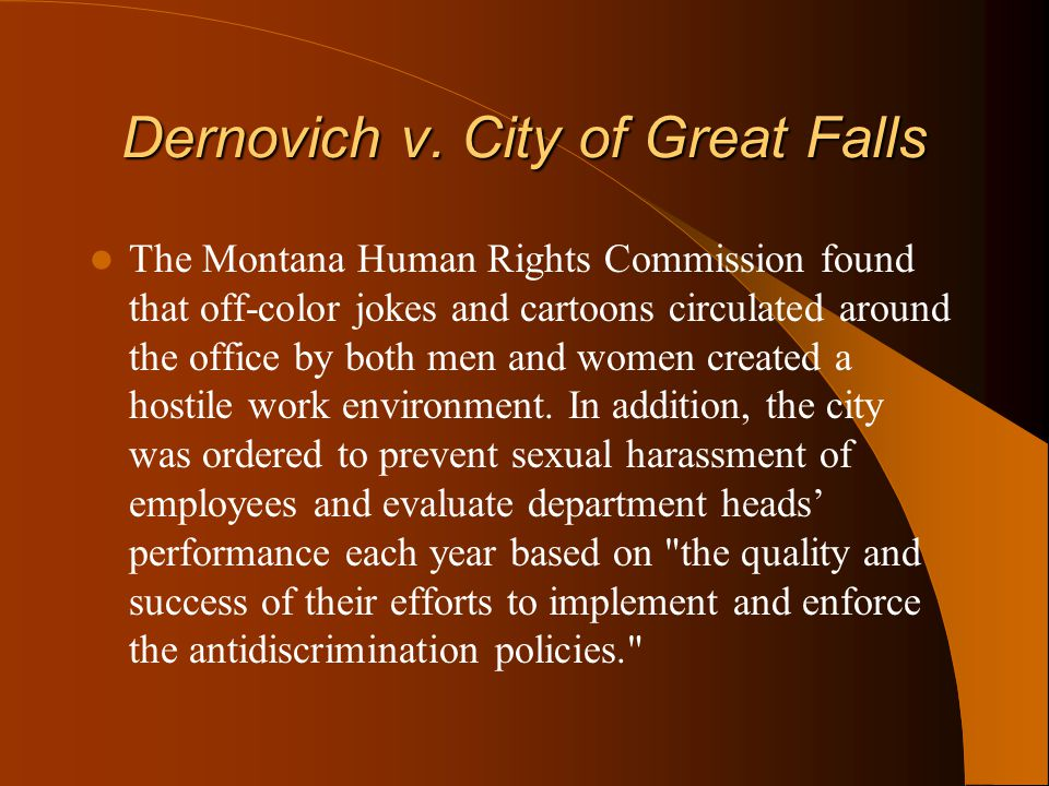 Dernovich v. City of Great Falls