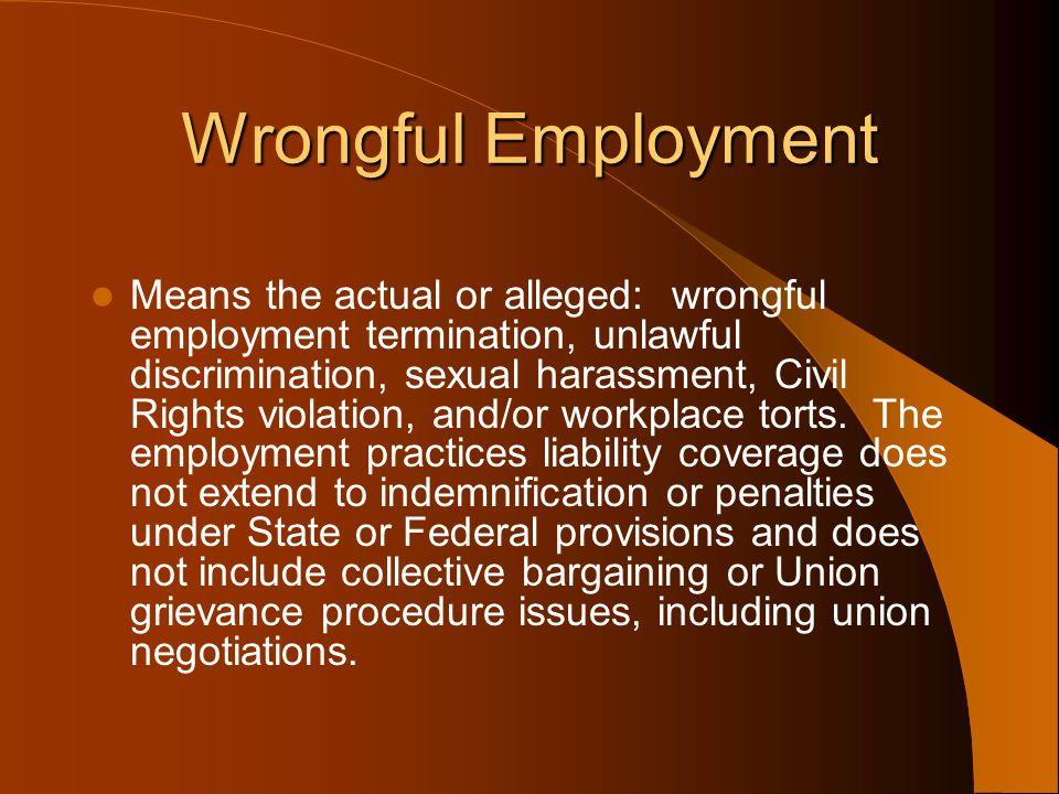 Wrongful Employment