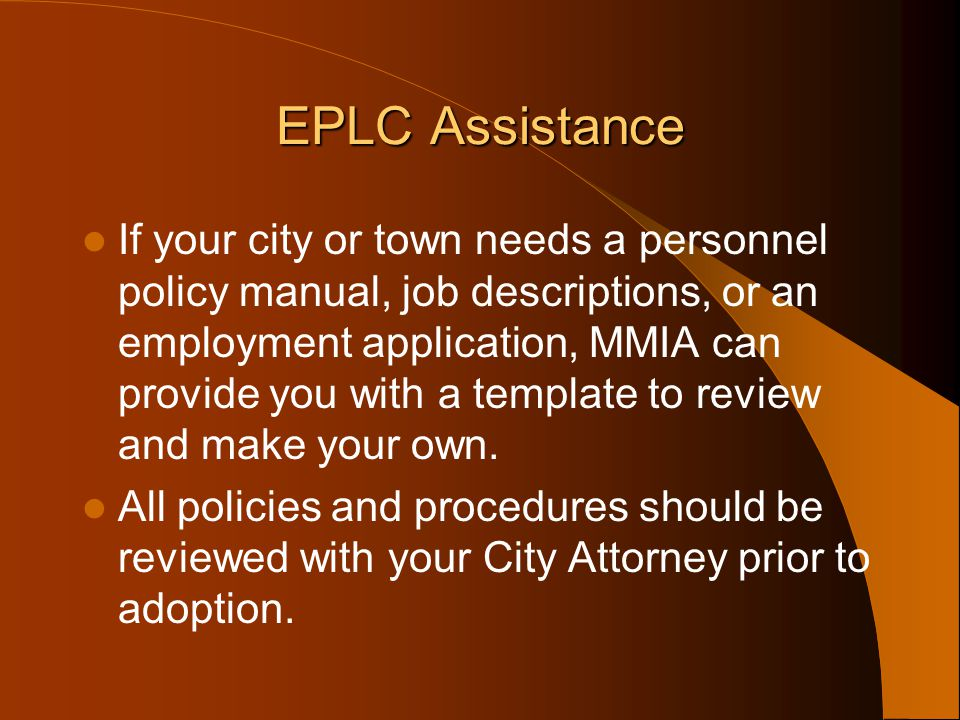 EPLC Assistance