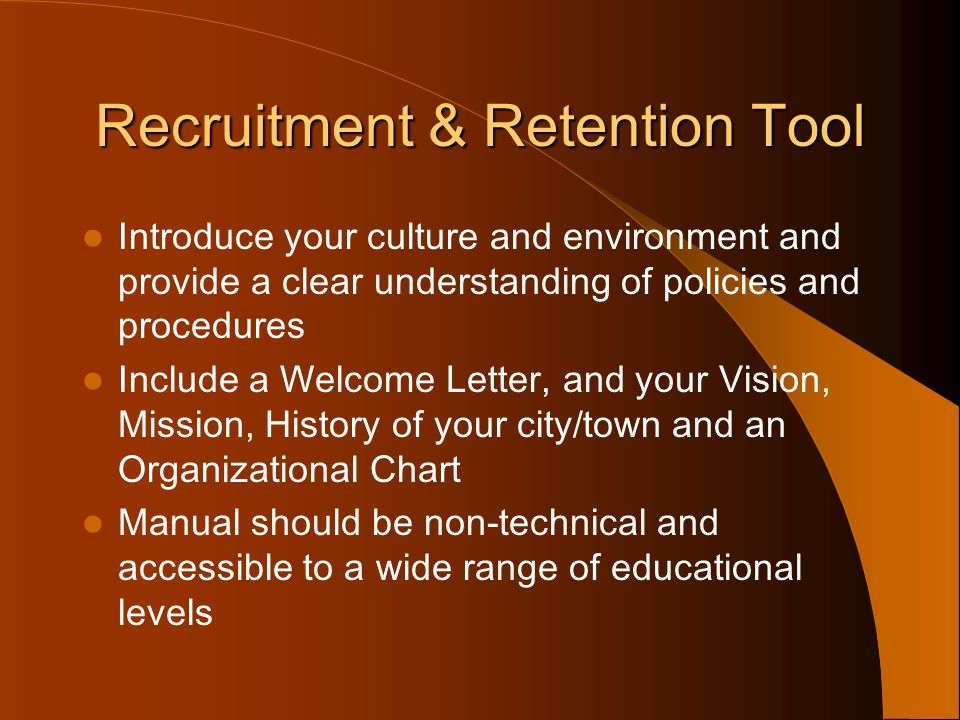 Recruitment & Retention Tool