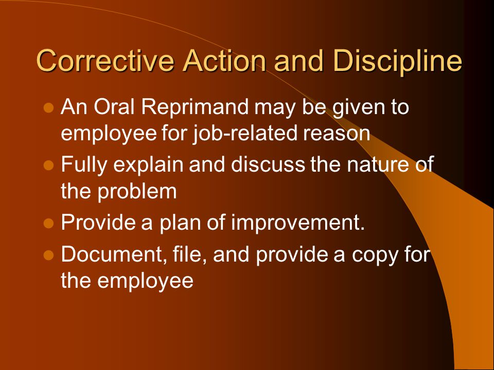 Corrective Action and Discipline