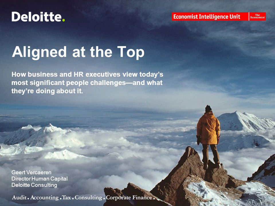 Aligned at the Top How business and HR executives view today's most significant people challenges—and what they're doing about it.