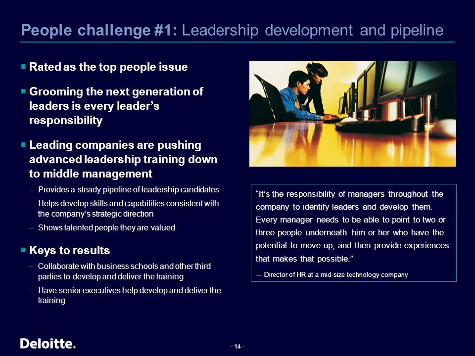 People challenge #1: Leadership development and pipeline