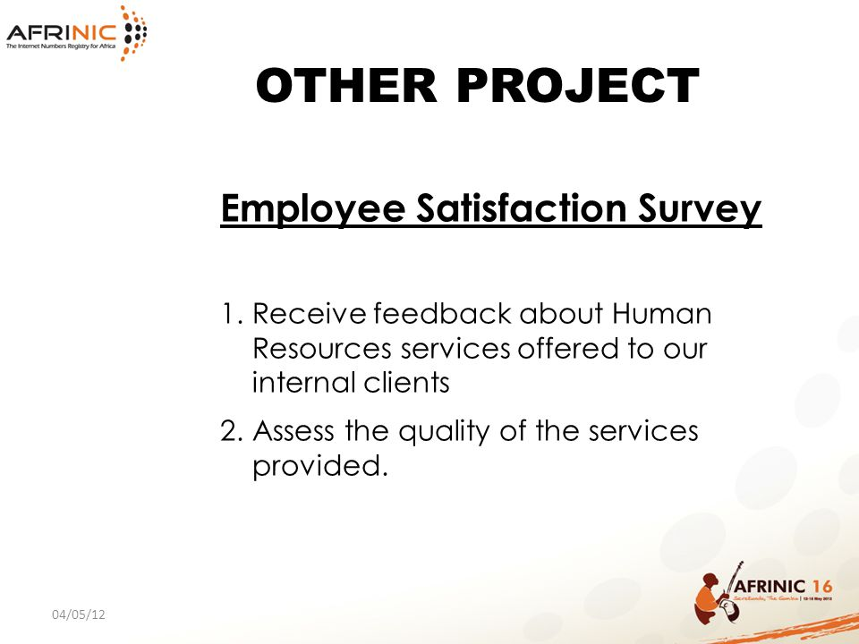 OTHER PROJECT Employee Satisfaction Survey