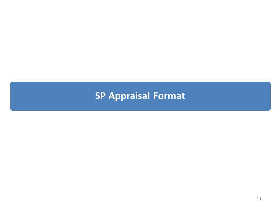 4/6/2017 SP Appraisal Format