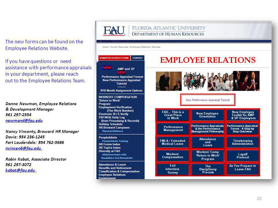 The new forms can be found on the Employee Relations Website.
