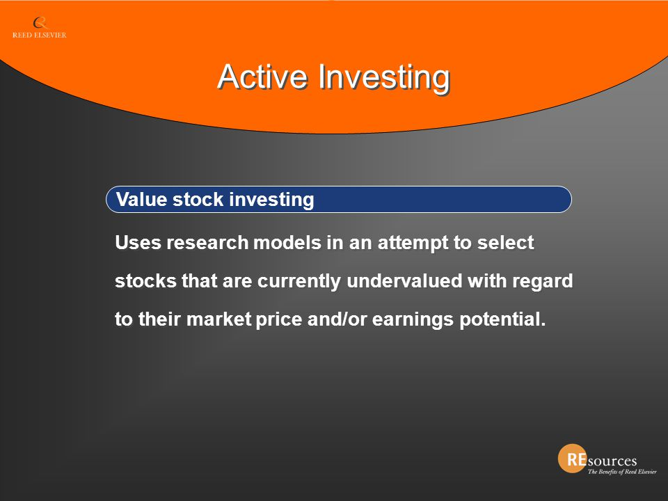 Active Investing Value stock investing