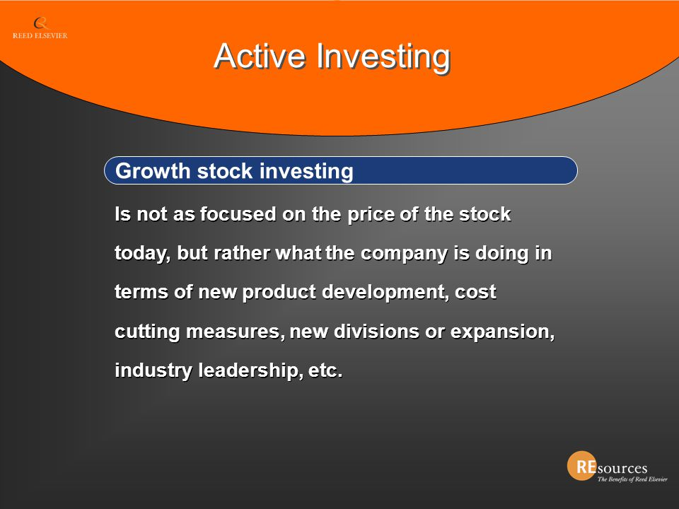 Active Investing Growth stock investing