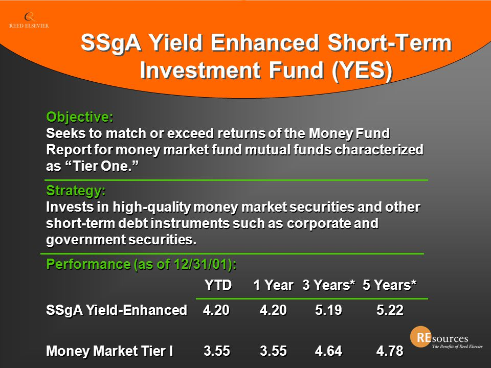 SSgA Yield Enhanced Short-Term Investment Fund (YES)