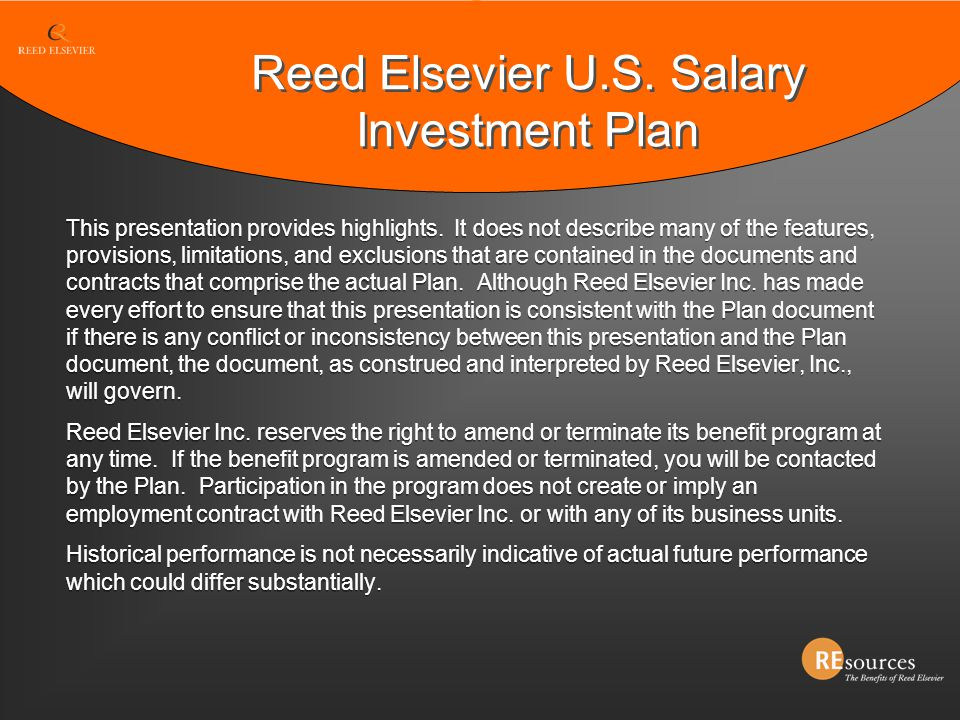 Reed Elsevier U.S. Salary Investment Plan