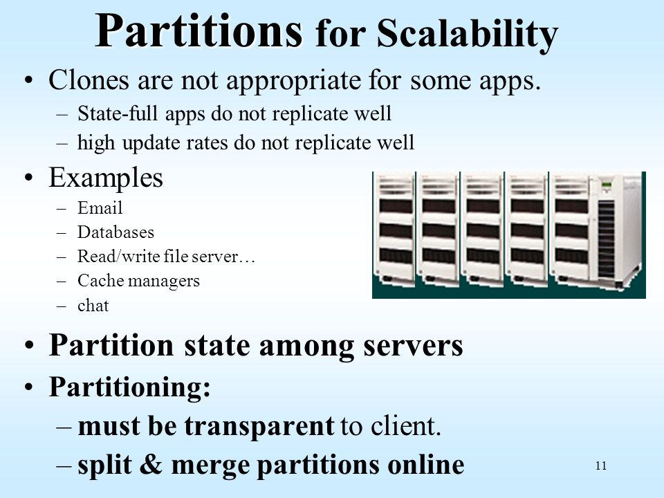 Partitions for Scalability