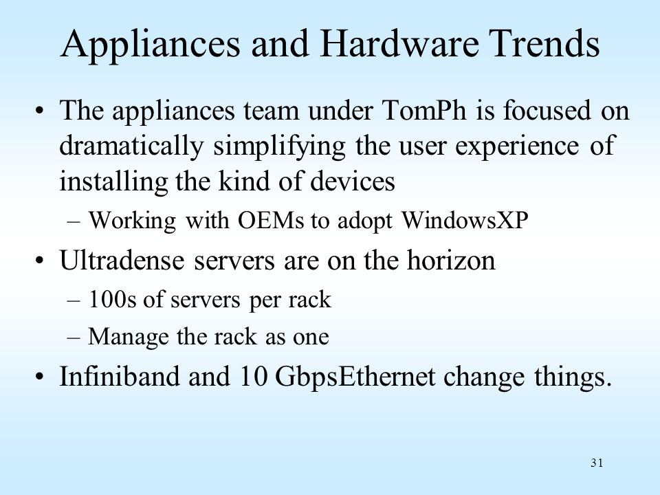 Appliances and Hardware Trends