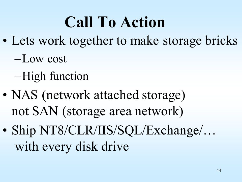 Call To Action Lets work together to make storage bricks