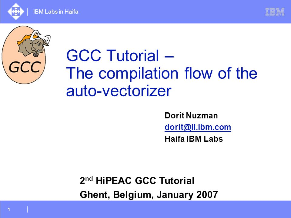 GCC Tutorial – The compilation flow of the auto-vectorizer