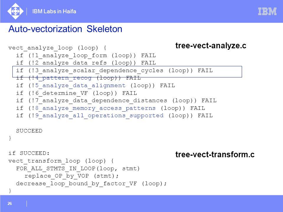 Auto-vectorization Skeleton