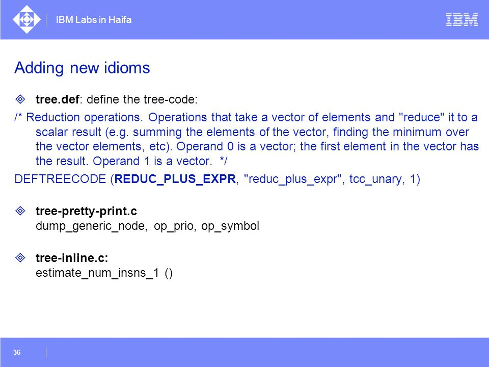 Adding new idioms tree.def: define the tree-code: