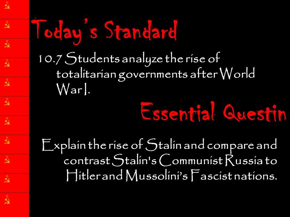 Today's Standard Essential Questin
