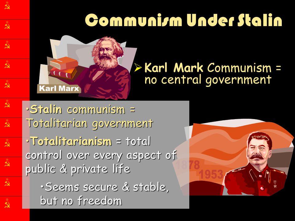 Communism Under Stalin