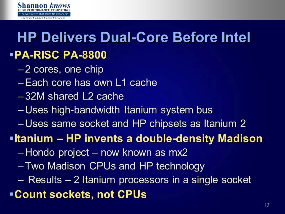 HP Delivers Dual-Core Before Intel