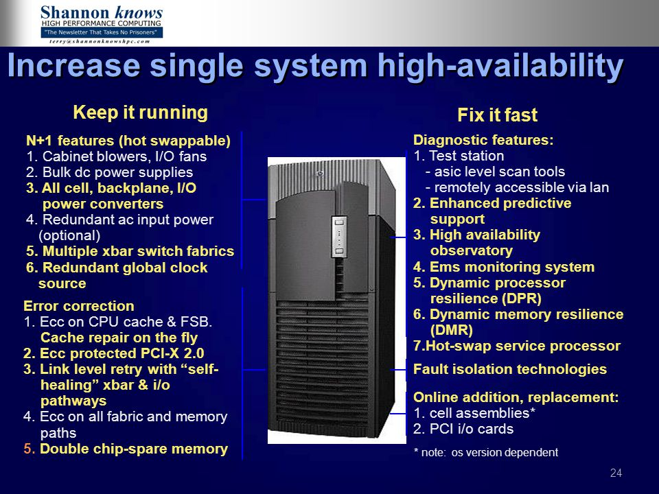 Increase single system high-availability