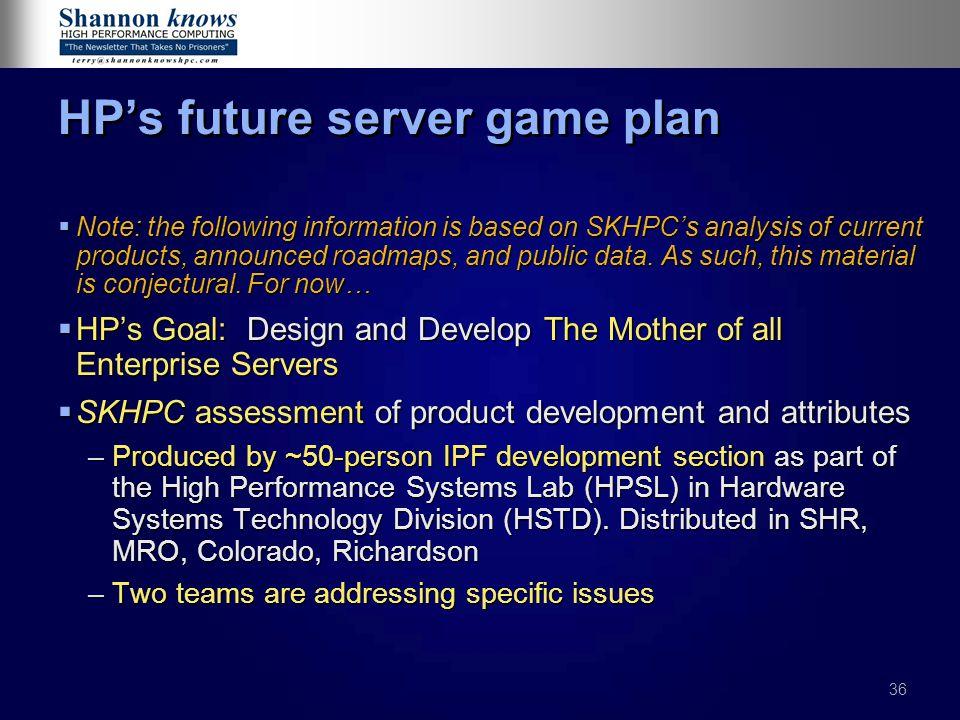 HP's future server game plan