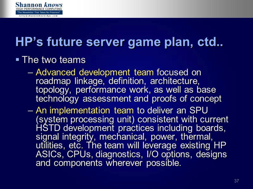 HP's future server game plan, ctd..
