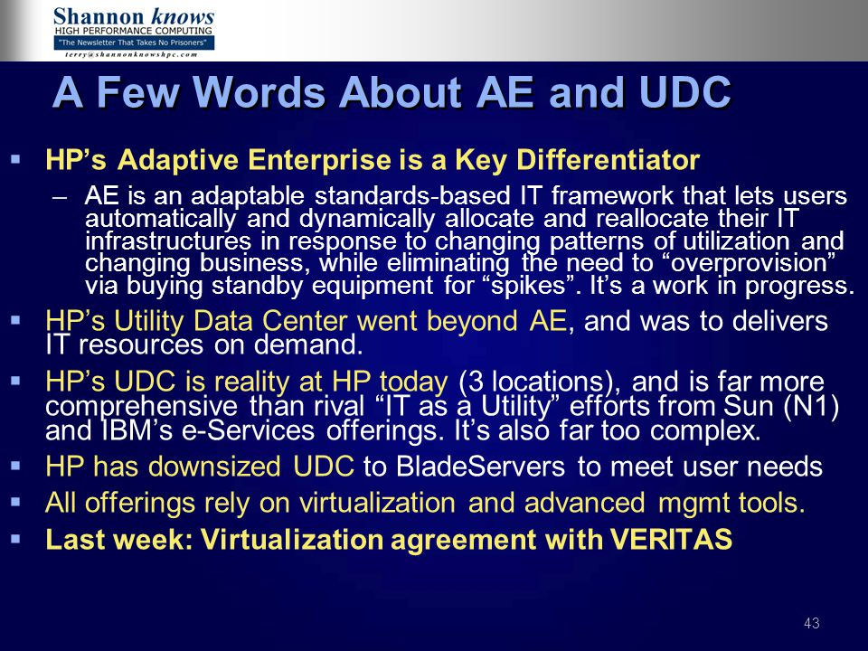 A Few Words About AE and UDC