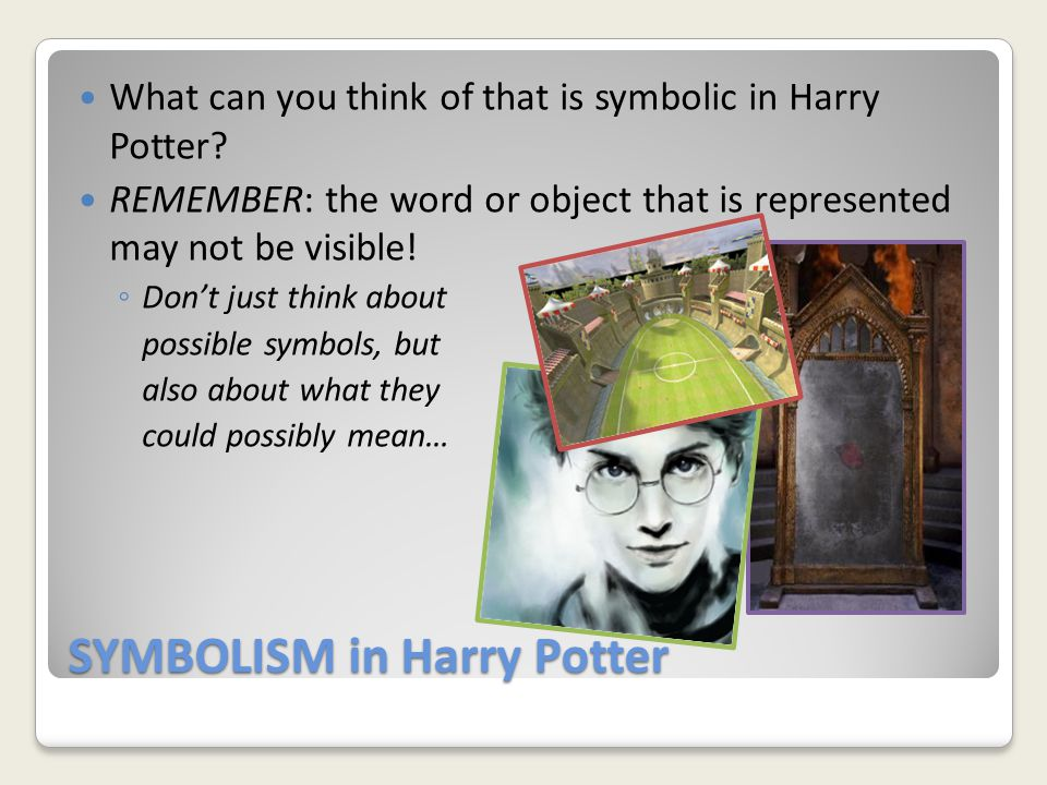 SYMBOLISM in Harry Potter