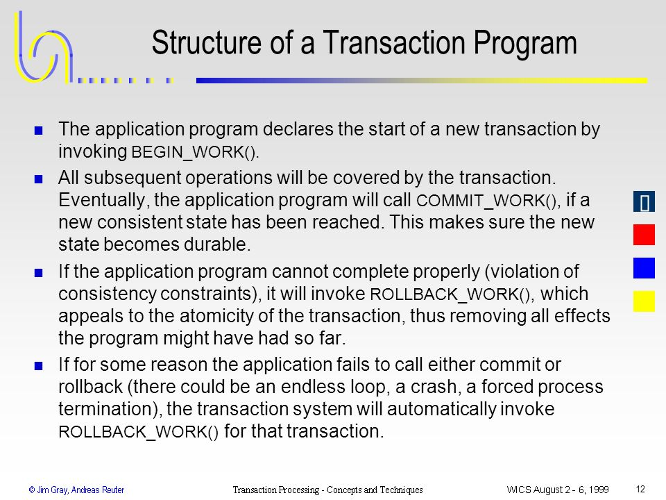 Structure of a Transaction Program