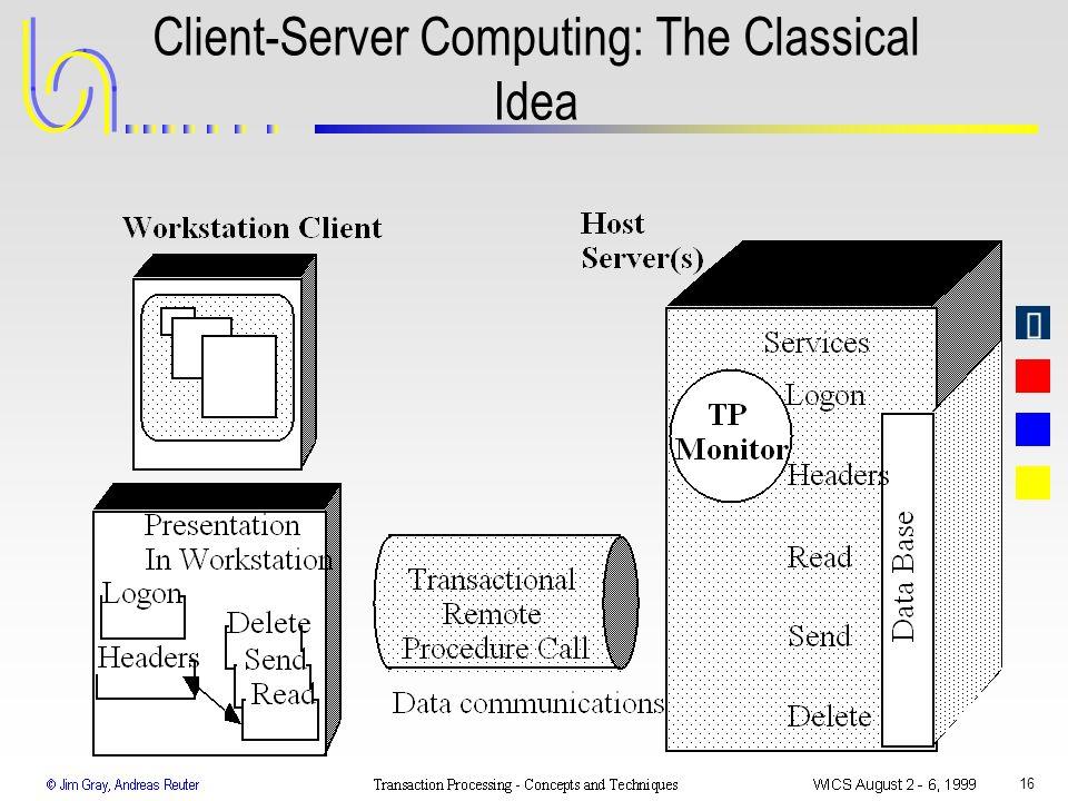 Client-Server Computing: The Classical Idea