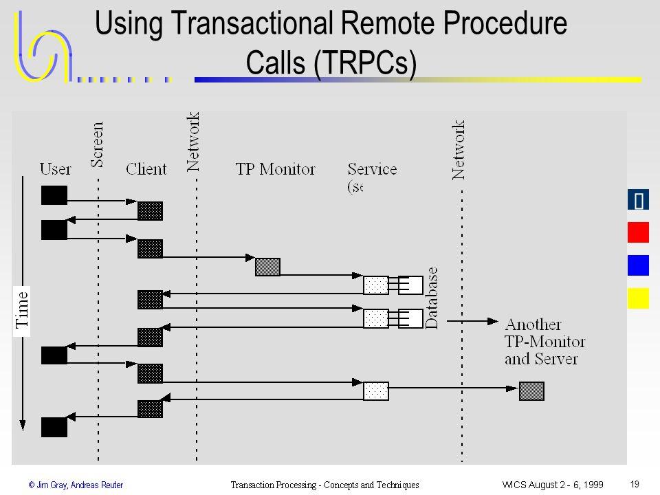 Using Transactional Remote Procedure Calls (TRPCs)
